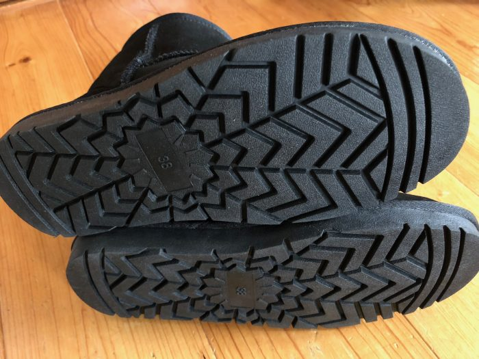 ブーツ底面アップ