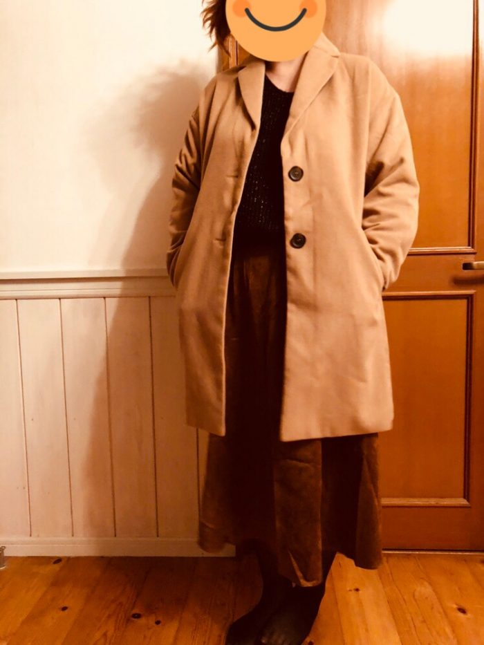 コート着たところ2